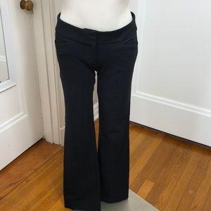 Loft black flat front pants size 4